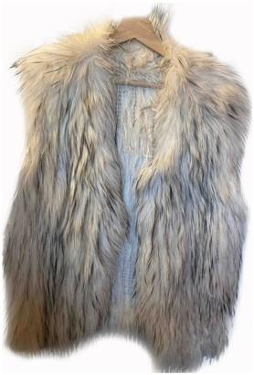 Stone_Cold_Fox Stone Cold Fox Beige Fox Jacket for Women