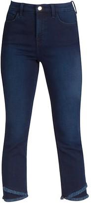 JEN7 by 7 For All Mankind Frayed Slant Hem Straight Jeans