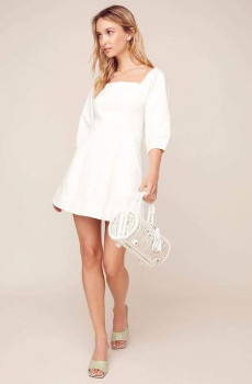 ASTR the Label The Rabia Dress In White - L