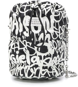 Maison Margiela Graffiti Print Bucket Bag