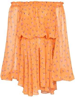 Rotate off-shoulder rose print dress
