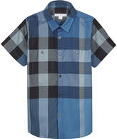 Burberry Camber check print cotton short-sleeved shirt 4-14 years