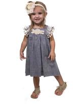 Bonnie Jean Country Chambray Dress