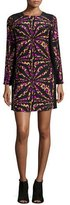 Alice & Trixie Zoey Long-Sleeve Printed Shift Dress, Camel