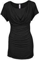 Women's Nurture-Elle Cowl Neck Short Sleeve Nursing Top