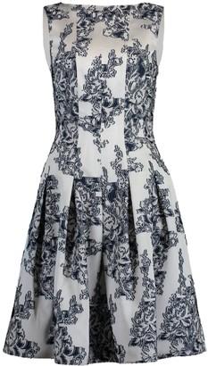 Oscar de la Renta Bateau Full Bottom Dress
