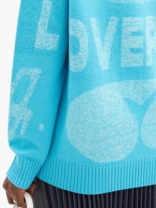 Charles Jeffrey Loverboy Logo-jacquard Sweater - Blue