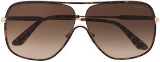 Tom Ford Aviator Frame Sunglasses