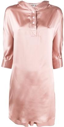 Teija silk 3/4 length smock dress