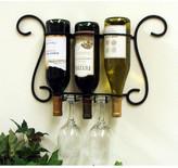 J & J Wire 3 Bottle Wall Mounted Wine Rack