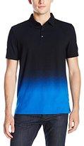 Calvin Klein Men's Slim Fit Ombre Dip Dye Short Sleeve Polo