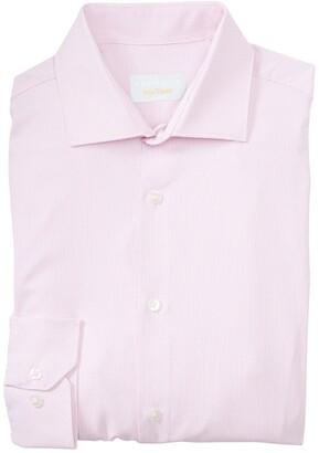 Perry Ellis Solid Long Sleeve Slim Fit Shirt