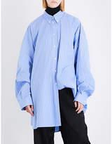 Maison Margiela Oversized striped cotton-poplin shirt