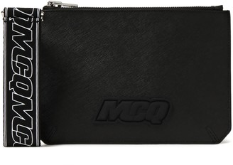 McQ Hyper Logo-appliqued Textured-leather Pouch