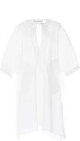 Maison Rabih Kayrouz Off White Wired Organza Blouson Dress