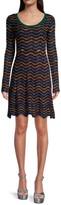 Thumbnail for your product : M Missoni Chevron Knit Mini Dress