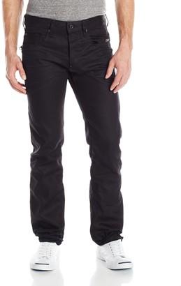 G Star Men's Attacc Slim Straight Leg Jean in Black Format Denim 3D Aged