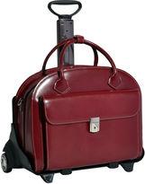 McKlein McKleinUSA Glen Ellyn 15.4 Leather Detachable -Wheeled Laptop Briefcase