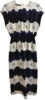 Mother of Pearl Navy Silk Dress for Women