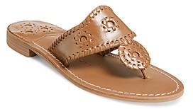Jack Rogers Women's Natural Flat Sandals