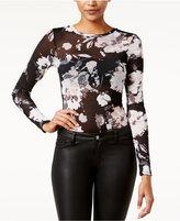Material Girl Juniors' Printed Mesh Bodysuit, Only at Macy's