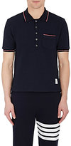 Thom Browne Men's Waffle-Knit Cotton Polo Shirt