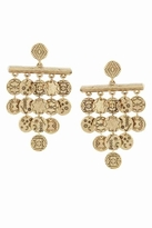 House Of Harlow Tiered Coin Earrings in Gold