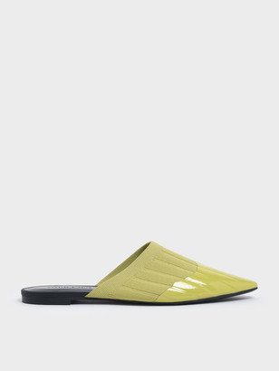 Charles & Keith Knitted Pointed Toe Mules
