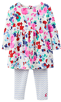 Joules Baby Christina Floral Dress and Leggings Set, Multi