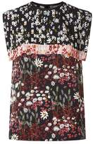 Mother of Pearl Phoebe Floral Pleated Top