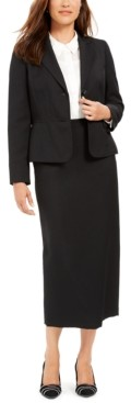 Le Suit Column Skirt Suit