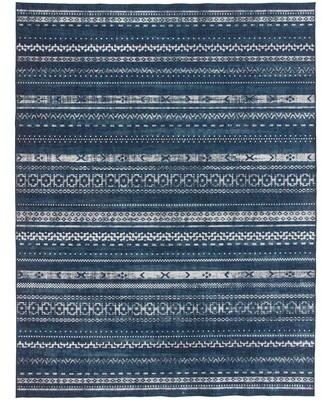 Union Rustic Valarie Southwestern Flatweave Blue Area Rug Rug Size: Rectangle 4' x 6'