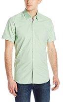 Stone Rose Men's Soft Oxford Short Sleeve Button Down Shirt