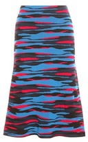 Jil Sander Navy Printed Wool Skirt