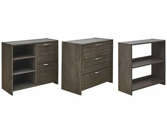 Gracie Oaks Cavallaro Low 5 Drawers and Bookcase