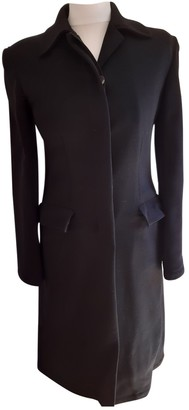 Trussardi Black Wool Coat for Women