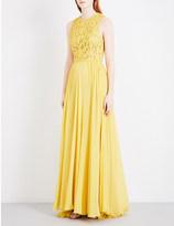 Elie Saab Sequin-embellished silk gown