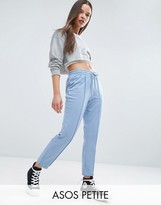 Asos Skinny Marl Track Pants with Zip Sides