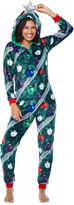 Asstd National Brand Christmas Tree w/ Hood Long Sleeve One Piece Pajama