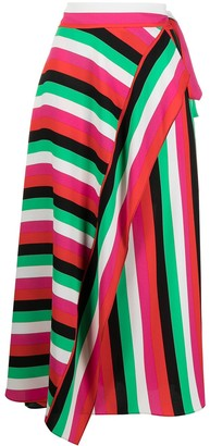 Diane von Furstenberg Carson striped wrap skirt