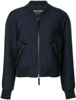 Emporio Armani back patch bomber jacket