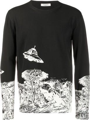 Valentino x Undercover Time Traveller intarsia jumper