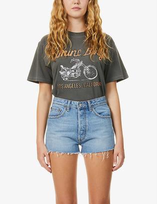 Boyish The Cody faded high-rise denim shorts
