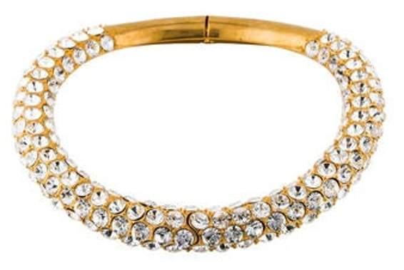 Alexander McQueen Crystal Choker Gold Crystal Choker