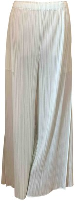 Issey Miyake Turquoise Silk Trousers for Women