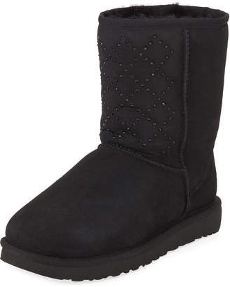 UGG Classic Short Crystal Suede Boots