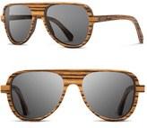 Shwood Men's 'Medford' 56Mm Polarized Wood Sunglasses - Walnut/ Grey