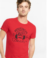 Express mustache beats cancer t-shirt