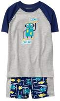 Gymboree Robot 2-Piece Shortie Pajamas