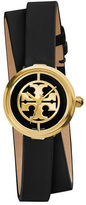 Tory Burch Reva Double-Wrap Leather Watch, 28mm